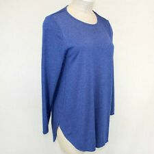 Logo by Lori Goldstein Blue Long Sleeve Top Tunic Blouse Fall Winter Small