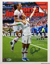 Alex Morgan Signed Sports Illustrated 11x14 Photo BAS Beckett Q56772