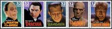 1997 32c Movie Monsters, Strip of 5 Scott 3168-72 Mint F/VF NH
