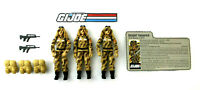 "GI Joe 1985 Dusty 3.75"" Figure Lot of 3 with Accessories and File Card Hasbro"