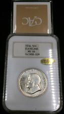 1936 MS64 *GOLD CAC* NGC FATTY Cleveland Commemorative 50c RARE GOLD CAC