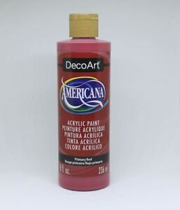 DecoArt Acrylic Paint Primary Red 8 oz