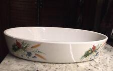 PILLIVUYT HOAN floral Wheat France Oval Baking Dish 12 x 9 x 2