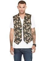 $44 G By Guess Men's Tycho Camo Vest Camouflaged Print Size S