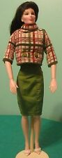 "2 pc Green Cotton Dress w Plaid Bolero for 19"" CED Tonner American Model CTGD04"