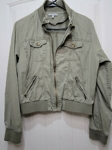 Charlotte Russe Women's Bomber Jacket Olive Green Size Xl