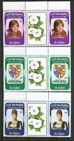 St Kitts SC # 96-98 Royal Baby. Strips of Three MNH