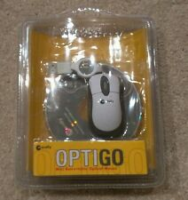 Brand New Sealed Macally OptiGo Mini Retractable Optical Mouse USB