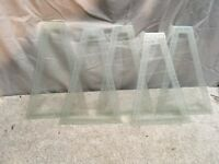 Vintage 5pc  Frosted Glass Out door Light Fixture Replacement Glass Lamp Repair