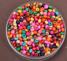 Wholesale 1000pcs Wood bead charm Spacer Beads 4x3mm  14color u choose