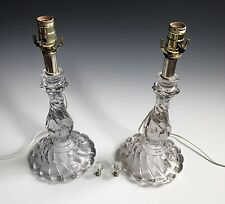 A Pair Of Vintage French Art Glass Style Glass Lamps