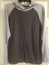 Reebok Men's Long Sleeve Shirt with hood Athletic Sportwear Casual Medium M