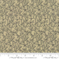 Moda Quilt Fabric Home Fruitful Vine by Kathy Schmitz color Oat by ½ yd #7012 14