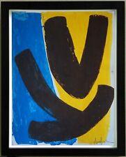 ANGE FALCHI (1913/1989) Gouache - COMPOSITION ABSTRAITE  - Signé