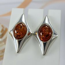 A378 Ohrringe Earrings 925 Sterling Silber Schmuck baltische Bernstein Amber