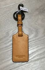 Coach Luggage Tag Adjustable Strap Attached split key ring and dogleash Clip