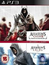 PACK ASSASSINS CREED + ASSASSIN'S CREED 2  EN CASTELLANO NUEVO PRECINTADO PS3