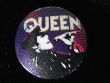 Queen-Freddie Mercury-Hat-Multi-Color-Rock-Pin Badge Button-80's Vintage-Rare