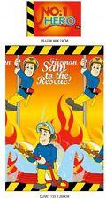 Fireman Sam Flame Single Duvet Set Quilt Cover Kids Bedroom Orange Boys No1 Hero