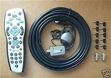 TV SKY HD REMOTE CONTROL KIT MAGIC EYE CABLE CLIPS CONNECTORS RF