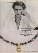 Publicité Advertising 1985  CHAUMET bijou collier bague joaillerie
