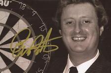 Darts: Eric Bristow 'The Crafty Cockney' Signed 6x4 B/W Portrait Photo+Coa