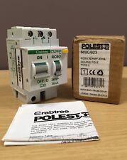 Crabtree Polestar C32 RCBO 32 Amp 30mA 10kA 32A Type C ~ Double Pole ~  602C/323