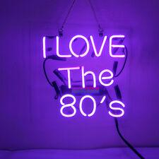 Neon Signs I Love The 80'S Christmas Gift Beer Bar Pub Homeroom Decor 10x10