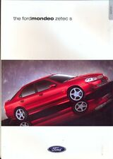Ford Mondeo Zetec S 2000 UK market sales brochure