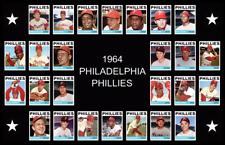 1964 PHILADELPHIA PHILLIES Custom Baseball Card POSTER Decor Art Xmas Gift 64