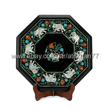 Marble Inlay Side Table Living Room End Table Contemporary Bedside Tables