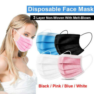 Face Mask x 50 or 10 Protective Covering Mouth Masks UK Free Post Same Day Send