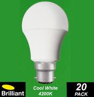 BULK 20 x 7W LED Light Globes Bulbs Lamps A60 GLS Bayonet B22 Cool White 4000K
