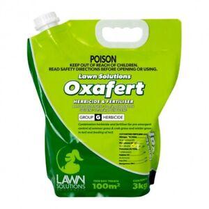 Lawn Solutions Oxafert 3KG Fertiliser & Herbacide