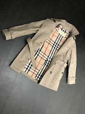 NWOT! MEN'S BURBERRY DOUBLE BREASTED TRENCH JACKET SZ MEDIUM GRAY. POLO SHIRT