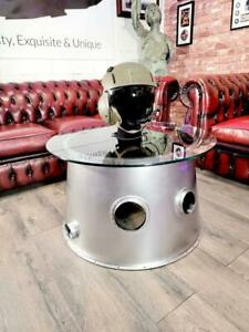Hawk Aircraft Rolls Royce Engine Cowling Coffee Table Aviation Chromed