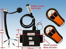 WINCH WIRELESS REMOTE CONTROL TWIN HANDSET 12V 12 VOLT  EXTERNAL MOUNT RECEIVER
