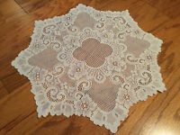 "Heritage Lace Polyester Ivory Cleremont Round Doliy 20""  ""New"" Nice (362)"