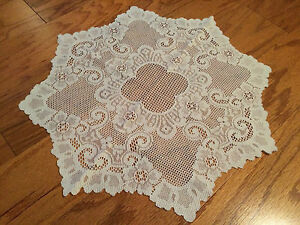 """Heritage Lace Polyester Ivory Cleremont Round Doliy 20""""   (44)"""
