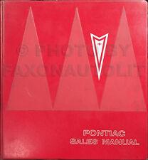 1966 Pontiac Sales Manual Dealer Album GTO Bonneville Grand Prix Catalina Etc.