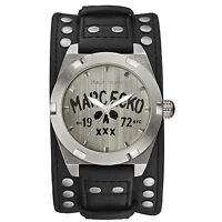 Marc Ecko Men's Black The Rock Skull Cuff Watch E12513G1