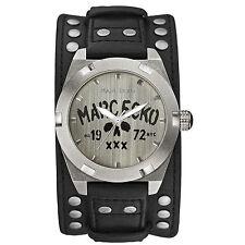 Marc Ecko Men's Black The Rock Skull Cuff Watch E12513G1