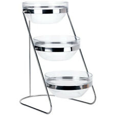 Winco Tds-3, 3-Tiered 18-8 Stainless Steel Display Server Stand Set with Glass C