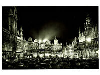 ⫸ 532 RPPC Postcard Vintage Photo Grand Place, Brussels Belgium – Not Posted
