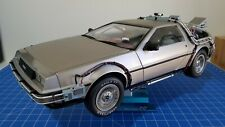 EAGLEMOSS BACK TO THE FUTURE DELOREAN FULLY BUILT 1/8 SCALE DIECAST + EXTRAS
