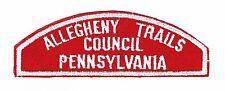 BOY SCOUT    ALLEGHENY TRAILS  /  COUNCIL  /  PENNSYLVANIA              RWS