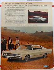 Vintage 1968 ad for Mercury cars - Park Lane 2-door hardtop, swept back roof