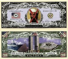 Osama Bin Laden is Dead 2001-2011 Dollar Novelty Money