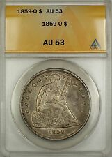 1859-O Seated Liberty Silver Dollar $1 ANACS AU-53 (Better Coin)