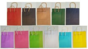 Recyclable Paper Gift Party Bag With Handles Birthday Wedding Favour Loot Bag
